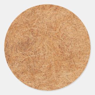 Coconut texture classic round sticker
