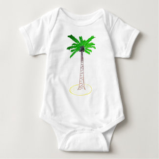 Coconut Tree Baby Bodysuit