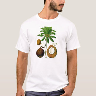 Coconut Tree Botanical Illustration T-Shirt