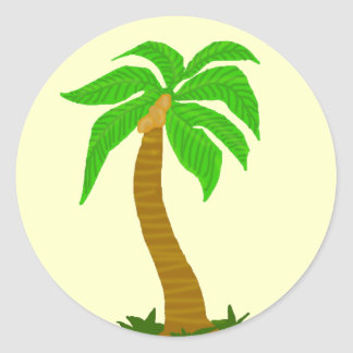 Coconut tree stickers