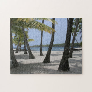 Coconut Trees at Place of Refuge, Hawaii Jigsaw Puzzle