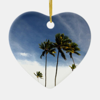 Coconut Trees Beach Brazil Ceramic Ornament