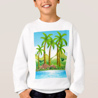 Coconut trees by the ocean sweatshirt