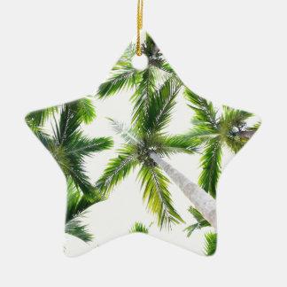 Coconut Trees Ceramic Star Ornament