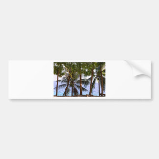 Coconut Trees Ocean Scenic View Bumper Sticker