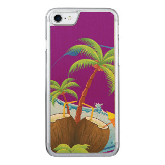 Coconuts Carved iPhone 7 Case