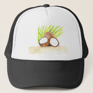 Coconuts fruits watercolour trucker hat