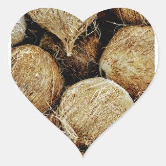 Coconuts Heart Sticker