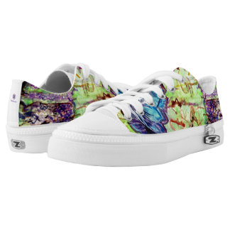 CoCoNuTs! In Amazingly Detailed Watercolors Low-Top Sneakers