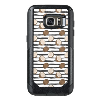 Coconuts on Grunge Stripes Pattern OtterBox Samsung Galaxy S7 Case
