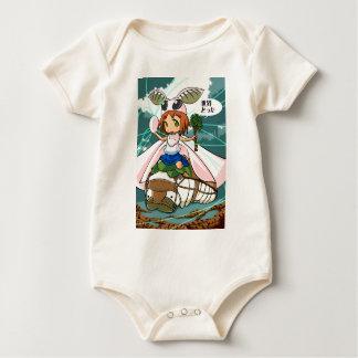 Cocoon God! Silkworm English story Tomioka Silk Baby Bodysuit