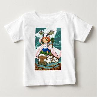 Cocoon God! Silkworm English story Tomioka Silk Baby T-Shirt
