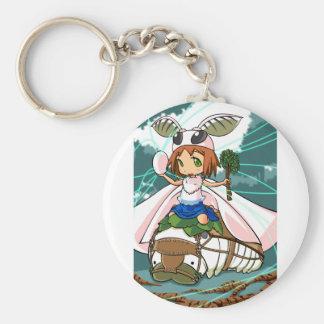 Cocoon God! Silkworm English story Tomioka Silk Basic Round Button Keychain