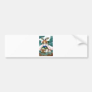 Cocoon God! Silkworm English story Tomioka Silk Bumper Sticker