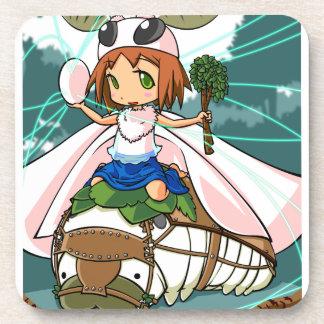 Cocoon God! Silkworm English story Tomioka Silk Coaster