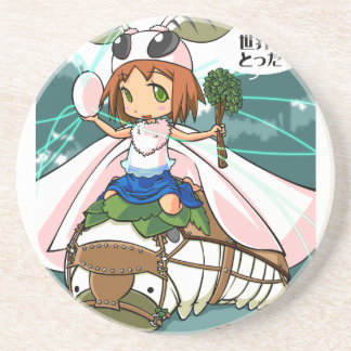 Cocoon God! Silkworm English story Tomioka Silk Drink Coaster