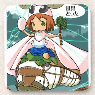 Cocoon God! Silkworm English story Tomioka Silk Drink Coasters