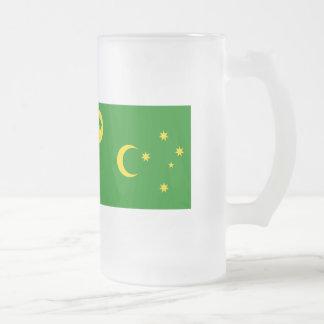 Cocos Islands Flag Frosted Glass Beer Mug