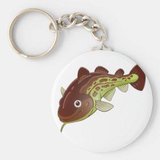 Cod Basic Round Button Keychain