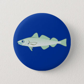 Cod codfish fish fish 2 inch round button