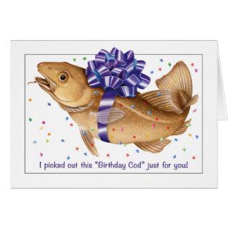 Cod fish birthday card