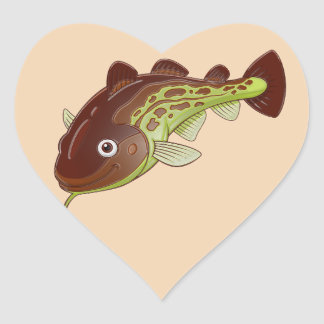 Cod Heart Sticker