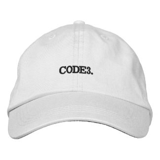 CODE 3 Hat. Embroidered Hat