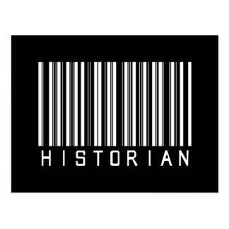 Code barres d'historien cartes postales