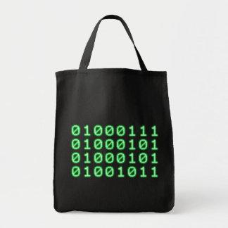 Code binaire pour le GEEK Sac En Toile Épicerie
