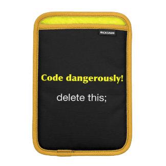 Code Dangerously iPad Mini Sleeve