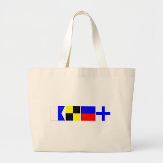 Code Flag Alex Large Tote Bag