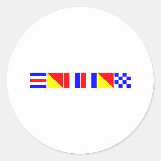 Code Flag Cotton Classic Round Sticker