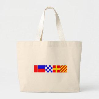 Code Flag Henry Large Tote Bag