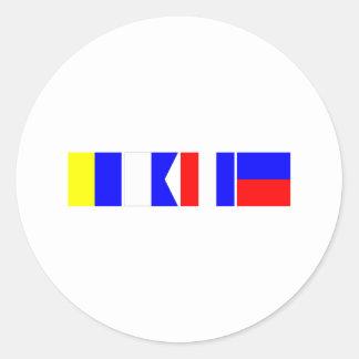 Code Flag Kate Round Sticker