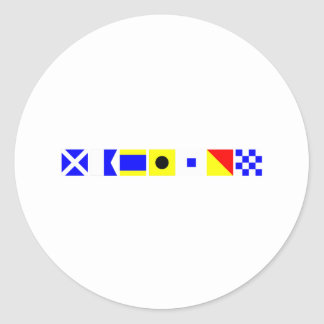 Code Flag Madison Classic Round Sticker