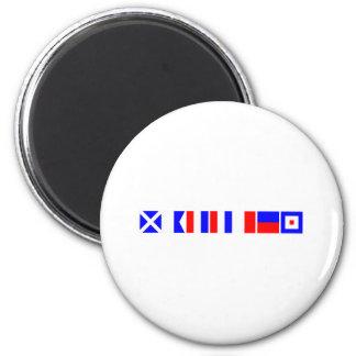 Code Flag Matthew 2 Inch Round Magnet