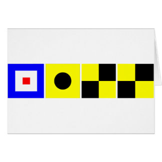 Code Flag Will Card