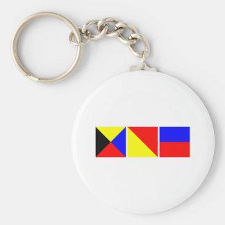 Code Flag Zoe Basic Round Button Keychain