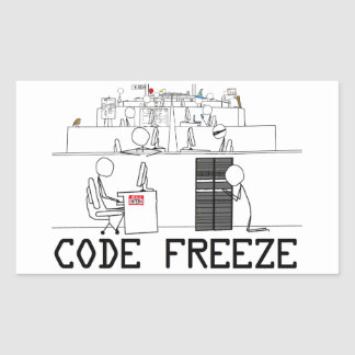 Code Freeze Cover Art Sticker (4)