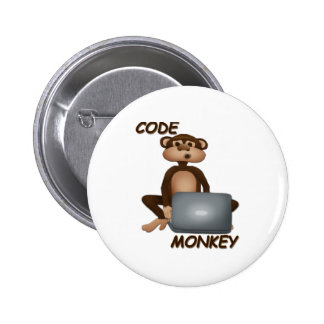 Code Monkey 2 Inch Round Button