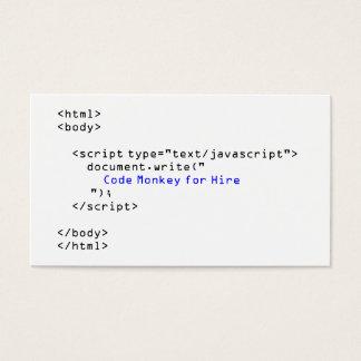 Code Monkey Javascript Business Card