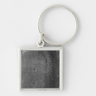 Code of Hammurabi, detail of column inscription Silver-Colored Square Keychain