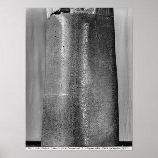 Code of Hammurabi, detail of column Poster