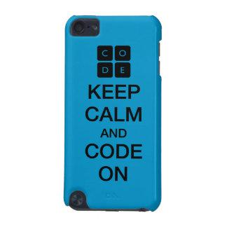 """Code.org """"gardent le calme et le code sur """" coque iPod touch 5G"""