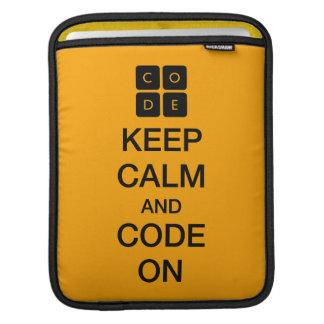 "Code.org ""Keep Calm and Code On"" iPad Sleeves"
