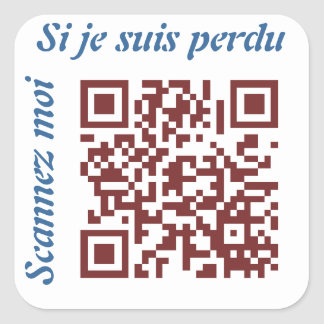 Code QR Square Sticker
