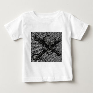 Code Skull and Crossbones Piracy Concept Baby T-Shirt