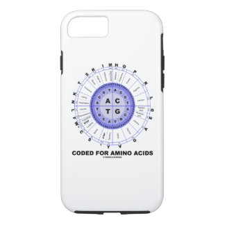 Coded For Amino Acids Codon Wheel iPhone 8/7 Case