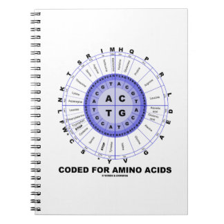 Coded For Amino Acids (Genetic Code DNA) Notebook
