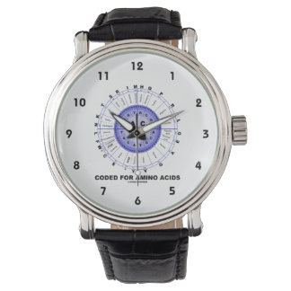 Coded For Amino Acids (Genetic Code DNA) Wrist Watches